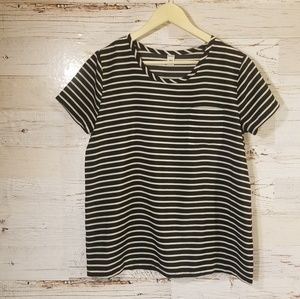 Old Navy stripe polyester top